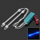 12V 1W 350LM Blue Light Car Decoration Lamp - Transparent White (2 PCS)