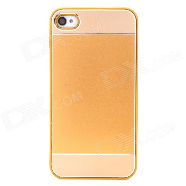 Stylish Protective Plastic Back Case for Iphone 4 / 4S - Golden + Champagne stylish electroplating protective pc back case for iphone 4 golden