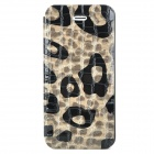 Alligator Pattern Protective PU Leather + Plastic Case for Iphone 5 - Grey + Black