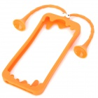 Gampsocleis Inflata UV Style Protective Silicone Case for Iphone 5 - Orange