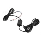 12V/24V to 5V 1A Power Supply Car Charger for Driving Recorder - Black - Car GPS Car Accessories