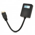Measy-H2V HDMI Male to VGA Female Converter Adapter Cable w/ 3.5mm Audio Jack - Black (20cm)