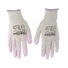 Galilee pncg 100184 Protective Nylon + Rubber Gardening Gloves - Purple + Grey (Size 7 / Pair)