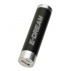 E-DREAM SMART102 2600mAh Cylindric Bar Shape Mobile Power Bank - Black