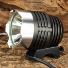 L-80F CREE XM-L U2 800lm 3-Mode White Bicycle Headlamp - Black + Silver (4 x 18650)