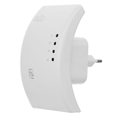 300Mbps Wireless Networking Repeater w/ WPS Function - White (EU Plug)