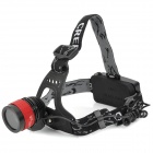 LZZ-04 CREE XM-L T6 400lm 3-Mode White Zooming Headlamp - Black + Red (1 / 2 x 18650)