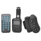 2GB Double Control Cigarette Lighter Powered MP3 Transmitter - Black