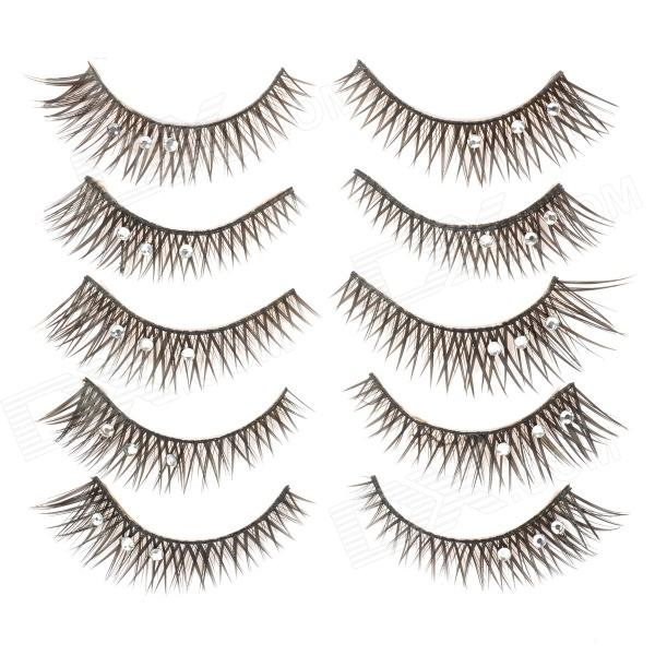 Cool Flower Rhinestone Artificial Eyelashes for Beauty Makeup (5 Pairs) quying laptop lcd screen for gateway ne56r52u ne51006u 15 6 inch 1366x768 40pin