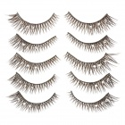 Cool Flower Rhinestone Artificial Eyelashes for Beauty Makeup (5 Pairs)