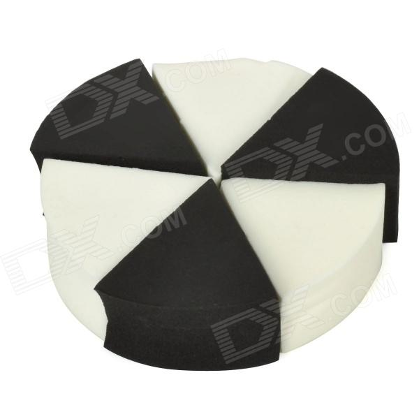 Malian P-007 6-in-1 Cosmetic Makeup Sponge Powder Puff - Black + White puff liquid foundation 216