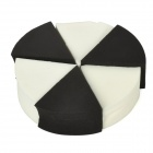 Malian P-007 6-in-1 Cosmetic Makeup Sponge Powder Puff - Black + White