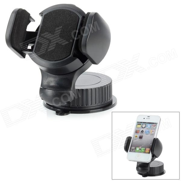 Suction Cup 360 Degree Rotatable Car Mout Holder for Mobile Phone / MP3 / MP4 / GPS - Black