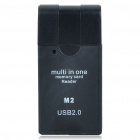 USB 2.0 SDHC SD / MMC / RM MMC / TF / MS / MS Micro (M2), Card Reader (Random Color)