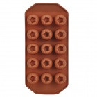 GEL061104 Creative DIY Silicone 15-Cup Flower Pattern Food Chocolate / Ice Mold - Coffee
