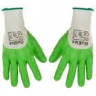 Galilee pncg 100153 Protective Nylon + Rubber Gardening Gloves - Green + White (Size 9)