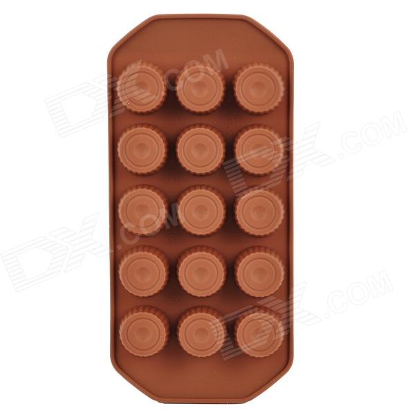 GEL0061102 Creative DIY Silicone 15-Cup Food Chocolate / Ice Mold - Coffee monday mourning
