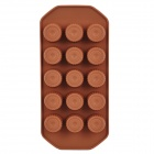 GEL0061102 Creative DIY Silicone 15-Cup Food Chocolate / Ice Mold - Coffee