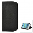 GTcoupe S-020 Seamless Protective PU Leather Flip-Open Case for Samsung Galaxy S3 / i9300 - Black