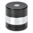 F-30698 Mini Portable Bluetooth v3.0 2-Channel Speaker w/ Microphone / FM / TF - Silver + Black