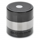 F-30698 Mini Portable Bluetooth v3.0 2-Channel Speaker w/ Microphone / TF / FM - Grey + Black