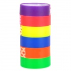 B-430 Colorful Translucent Adhesive Tapes - Red + Purple + Yellow + Blue + Orange + Green
