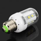 E27 4W 320lm 6000K 18-5050 SMD LED White Light Lamp - White (85~265V)