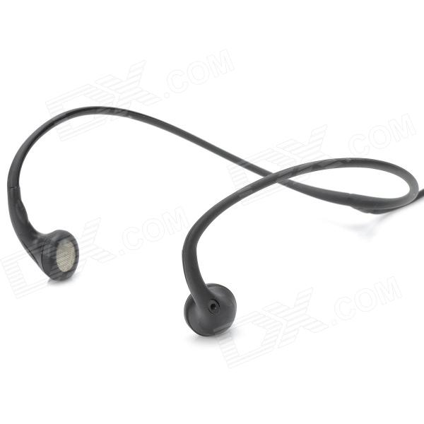 01 Stylish Universal Sporty 3.5mm Jack Ear Hook Earphone Headset - Black (100cm)