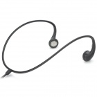 Stylish Universal Sporty 3.5mm Jack Ear Hook Earphone Headset - Black (100cm)