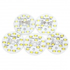 QP-7W 700lm 6000K 14-5730 SMD LED White Light Bulb / Down Lamp Source / Module - White (5 PCS)