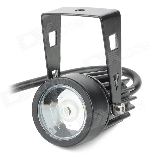 UItraFire 3W 170lm 6500K 3-LED White Light Motorcycle Waterproof Spotllight - Black (12V)
