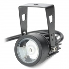 UltraFire 3W 170lm 6500K 3-LED White Light Motorcycle Waterproof Spotlight - Black (12V)
