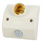 E27 Thread IR Human Body / Light Sensor LED Lamp Holder Socket - White