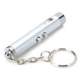 2-in-1 5mW Red Laser Pointer + White LED Flashlight Keychain (3*LR41)
