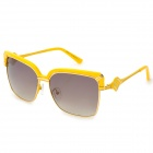 LANGTEMENG J5816468 C1-193-4 Fashion UV400 Protection Plastic Frame Resin Lens Sunglasses - Yellow