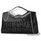 YH068 Shinning Sequin Handbag / Shoulder Bag for Women - Black