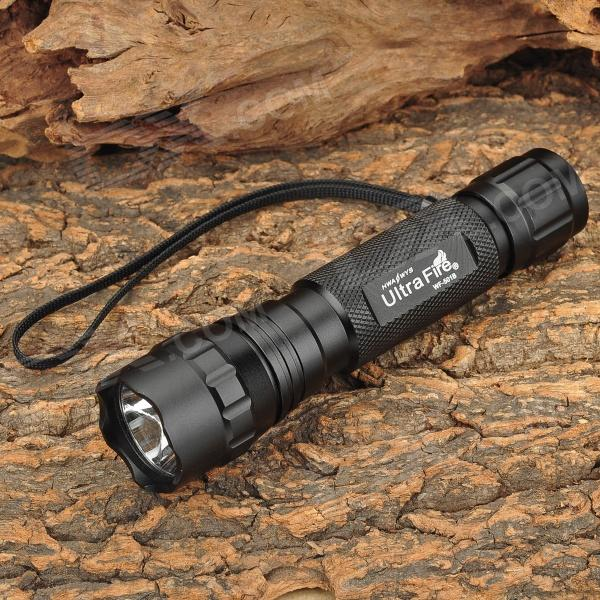 UItraFire WF-501B 800lm 3-Mode White Flashlight w/ Cree XM-L2 T6 - Black (1 x 18650) convoy s5 860lm 2 group 3 5 mode white led flashlight w cree xm l2 u2 black 1 x 18650