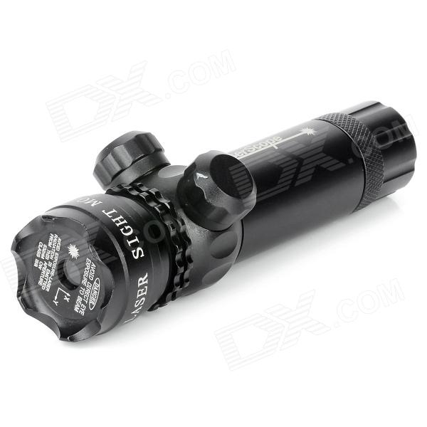 YH102 aleación de aluminio 5mW 532nm Laser Scope 21mm Rail Gun objetivo Sight - Negro