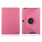 ENKAY ENK-7300 360' Rotation Protective PU Leather Case Stand for Asus Transformer Pad TF300 - Pink