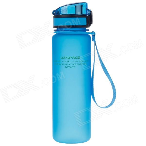 UZSPACE High-Quality Leak-Proof Frosted Colorful Bottle w/ Crystal Cover - Blue (500mL)