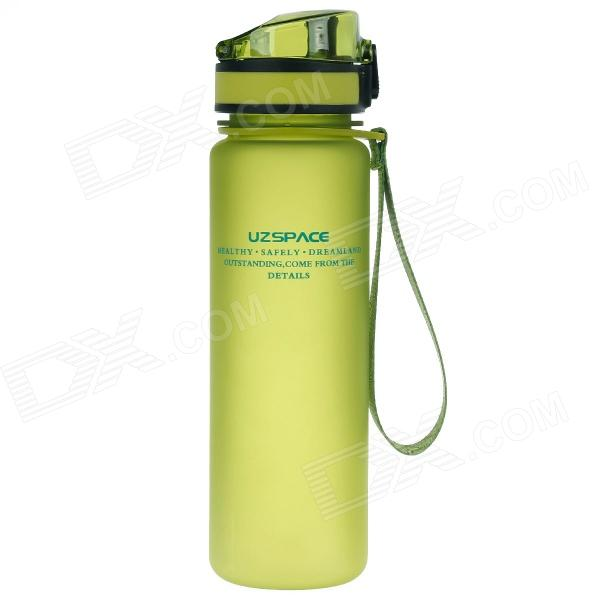UZSPACE High-Quality Leak-Proof Frosted Colorful Bottle w/ Crystal Cover - Green (500mL)