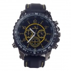 Super speed V6 V0176 Simulation Racer Style Quartz Wrist Watch for Men - Black + Yellow (1 x LR626)