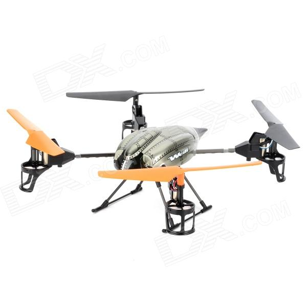 WLtoys V222 4-CH 2.4GHz Radio Control Video R/C Aircraft w/ TF / 6-Axi Gyro / 4-Model Controller