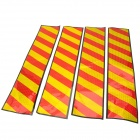 Car Body Warning Mark Reflective Stickers - Red + Yellow (4 PCS)
