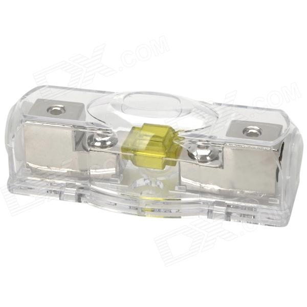 Rectangle Shaped 100A ABS + Zinc Alloy Power Car Fuse - Silver + Transparent