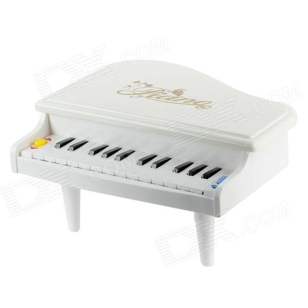 14-Key Electronic Musical Instrument Piano Toy - White human body interaction music playing game toy white pink 2 x aa