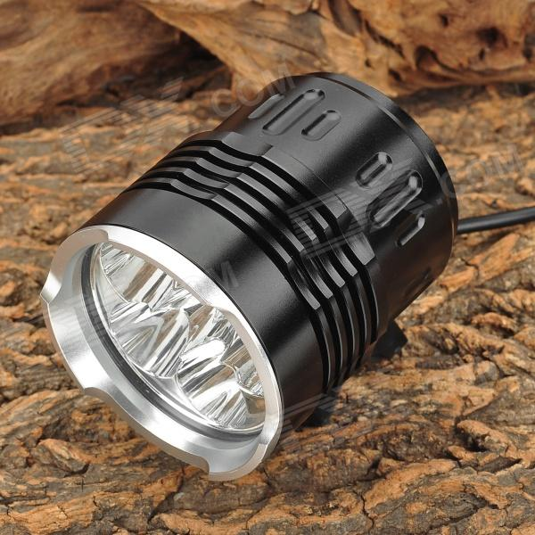 LZZ-06 3500lm 4-Mode White Bicycle Light w/ 6 x CREE XM-L T6 - Black (4 / 6 x 18650) 600lm 3 mode white bicycle headlamp w cree xm l t6 black silver 4 x 18650