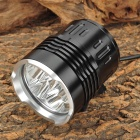LZZ-06 3500lm 4-Mode White Bicycle Light w/ 6 x CREE XM-L T6 - Black (4 / 6 x 18650)