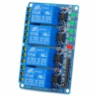 4-Channel 5V Optocoupler Isolation Relay Module w/ High Level Trigger - Blue
