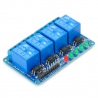 4-Channel 5V Module isolement optocoupleur relais w / trigger - bleu